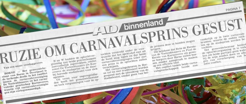 Carnavalsoorlog in Borne