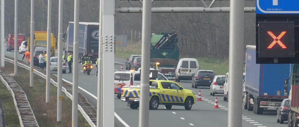 File op A35 door ongeval