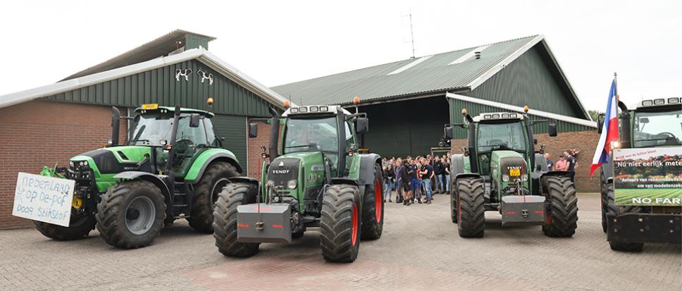 Twentse boeren op weg naar Zwolle