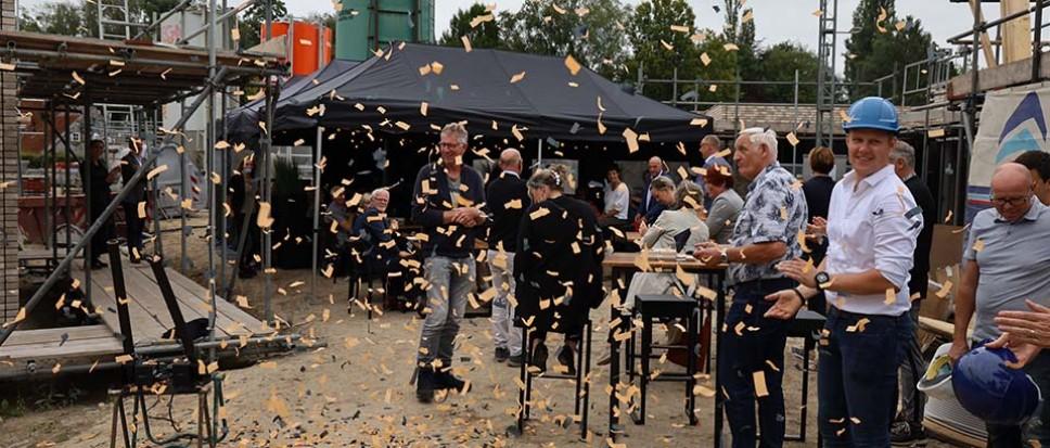Confetti bij nieuwbouw Reigershof