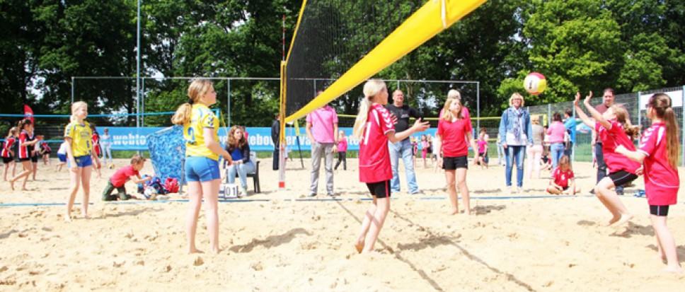 Volleybalspeeltuin voor kinderen
