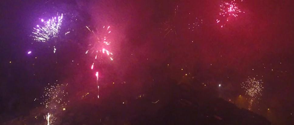 Vuurwerk boven Borne