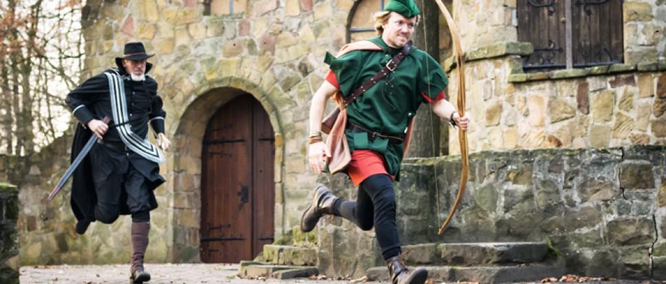 Mooi steuntje in rug voor Robin Hood