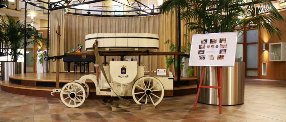 Historische brandspuit terug in Borne