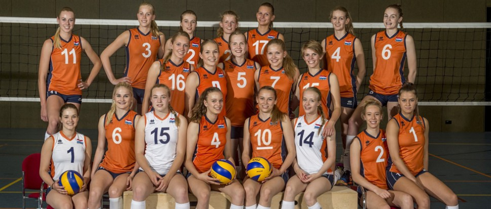 Jeugdinterland volleybal in De Veste