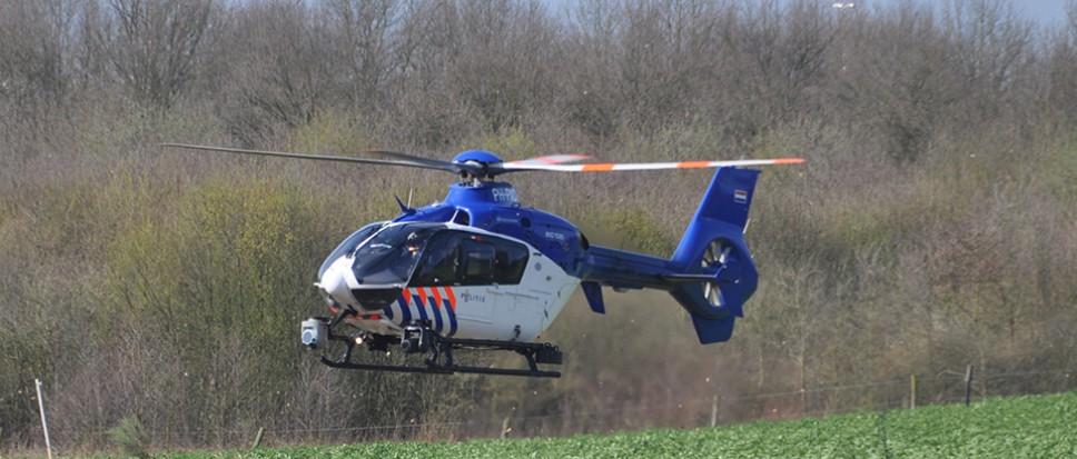Politiehelikopter te hulp bij onwel persoon