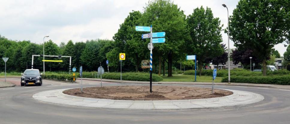 Nieuw uiterlijk rotonde Stroom-Esch