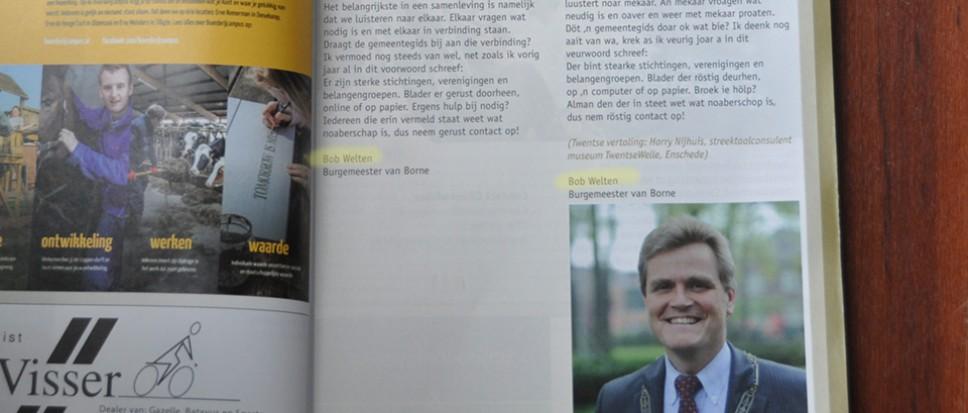 Burgemeester Bob Welten??
