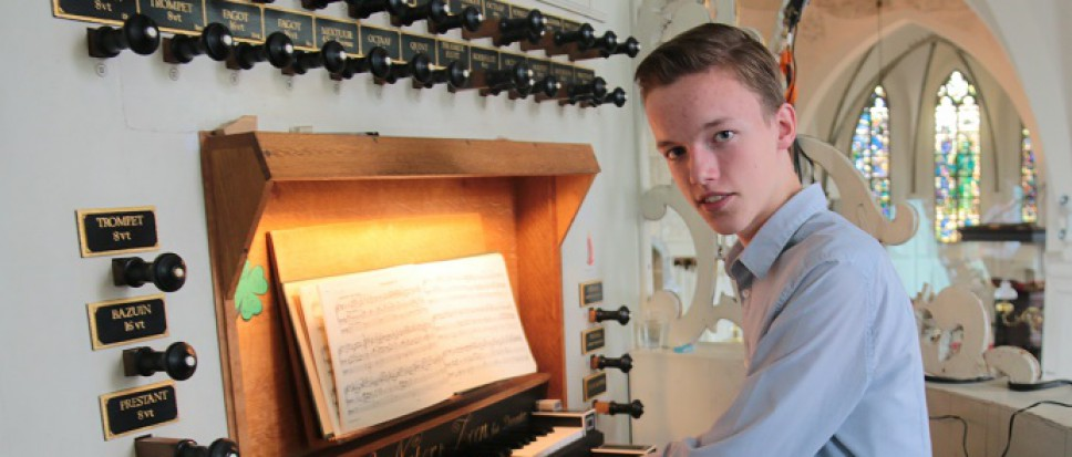 Orgeltalent Maarten Wilmink in Streekmarktconcert