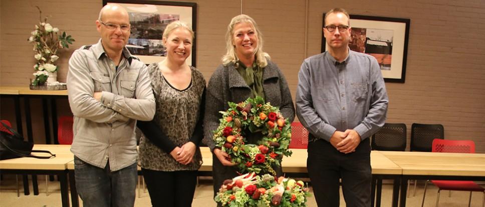 Ellen Oude Breuil wint workshop herfstkrans