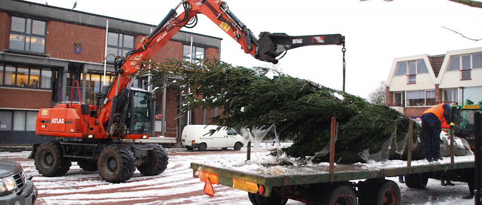 Kerstboom op Rheineplein