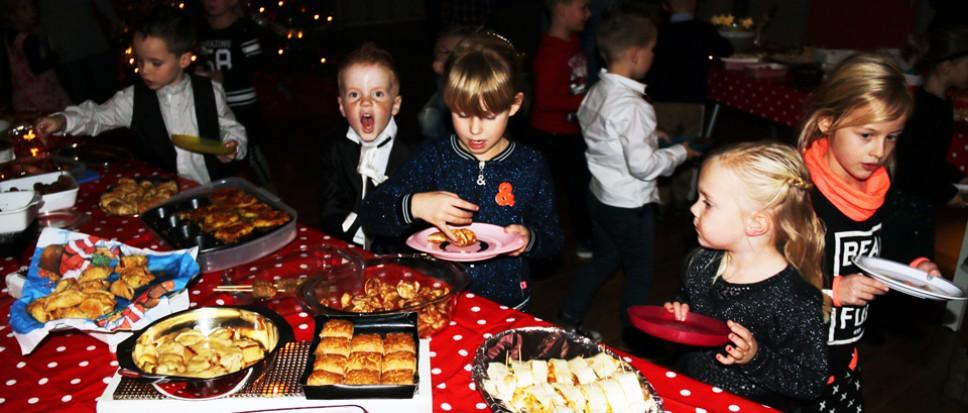 Een kerstbuffet vol wereldse hapjes