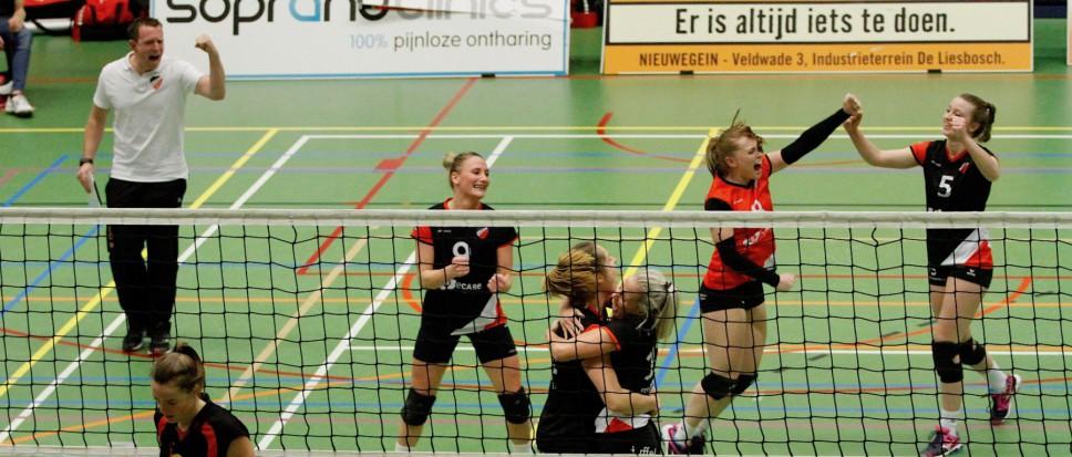 Dames 1 wint vijfsetter in Utrecht