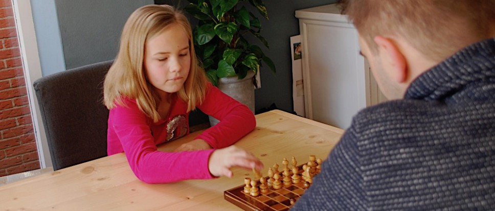 Nynke schaakt in een 'winning mood'
