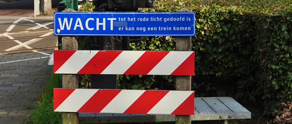 Alle spoorwegovergangen dicht