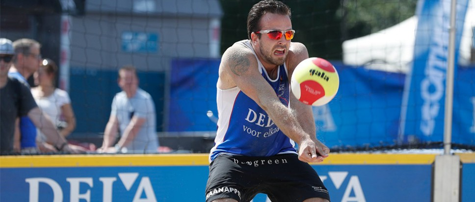 Beachvolleyballers stranden in kwartfinale