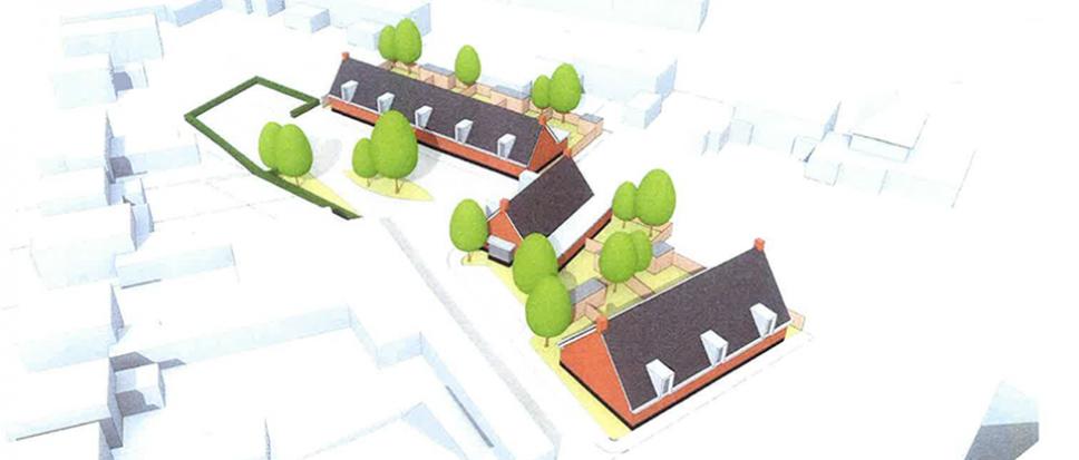 Plan voor 10 seniorenwoningen aan Molenstraat