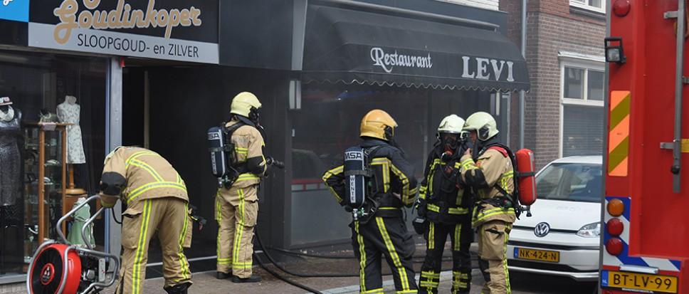 Brand bij Levi's aan Hofstraat