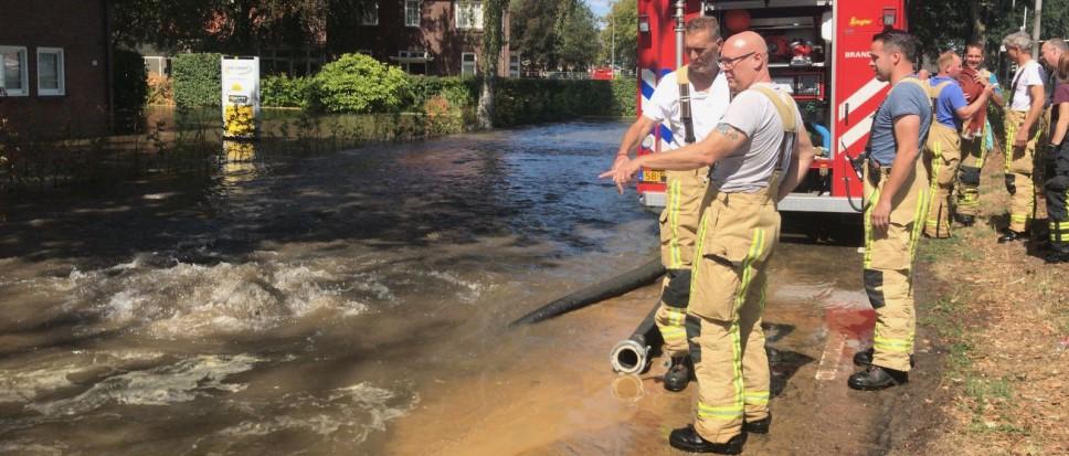 Overlast door gesprongen hoofdwaterleiding