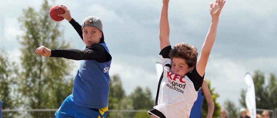 Beach handballen op 't Wooldrik