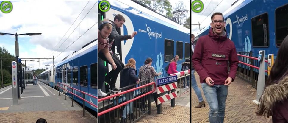 Gevaarlijke capriolen op station Borne
