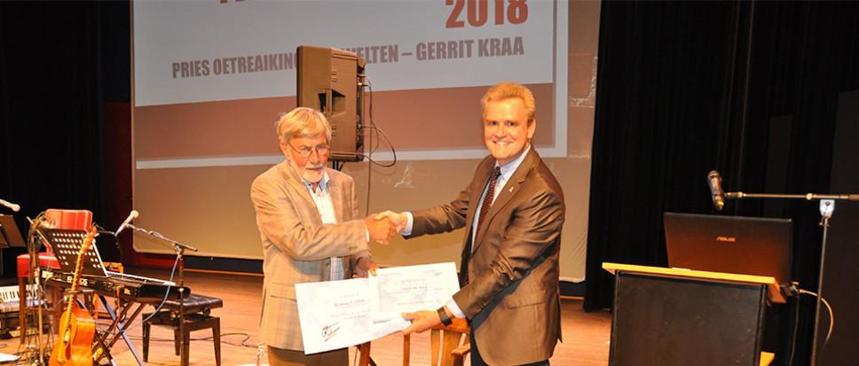 Gerrit Kraa krijgt Twentse Taalprijs 2018