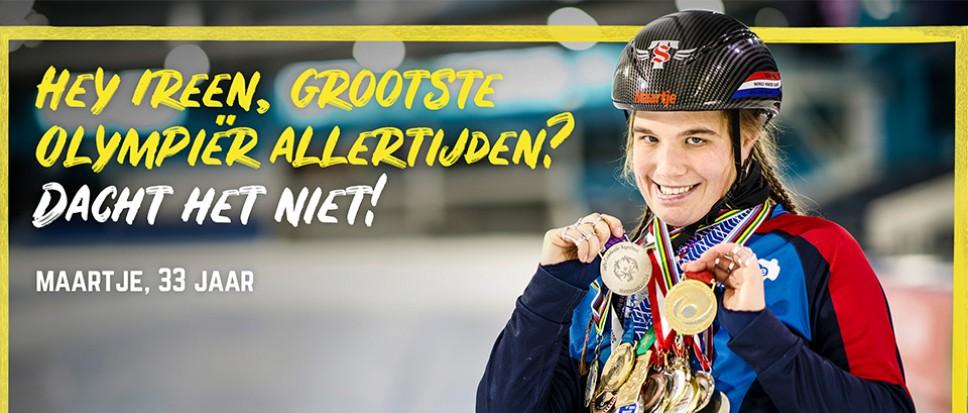 Olympiër Maartje daagt Ireen Wüst uit