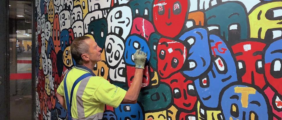 Wrange 'aanslag' op kunstwerk