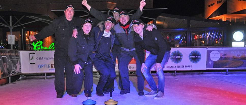 Plantjesplukkers winnen curling