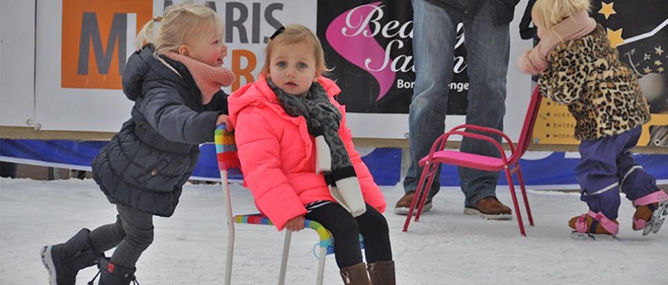 De ijsbaan exclusief voor de allerjongsten