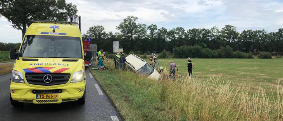 Eenzijdig ongeval aan Bornerbroeksestraat