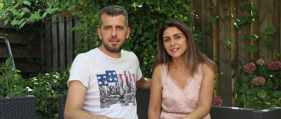Libanees eten aan het Rheineplein
