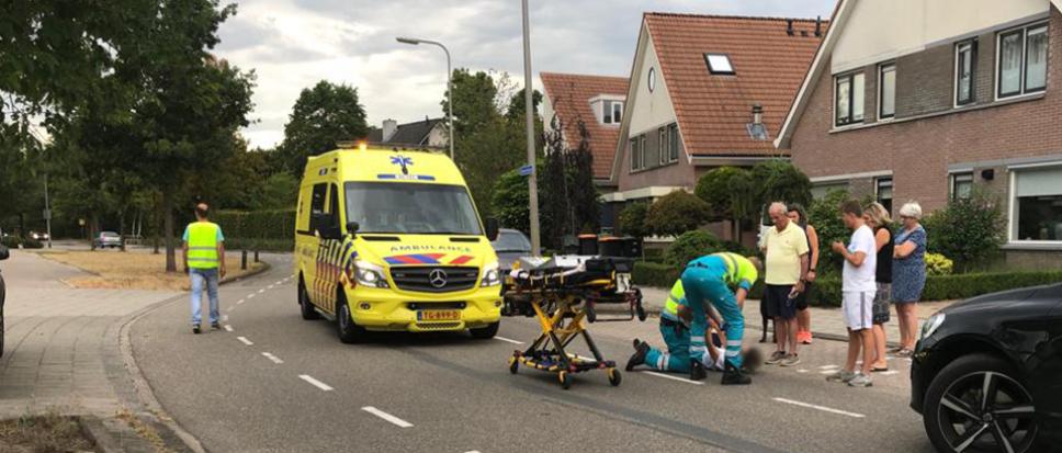 Ongeval met fiets en pizzakoerier