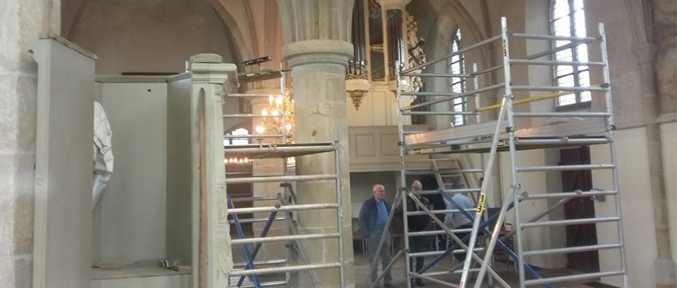 Tegenvaller voor restauratie Oude Kerk