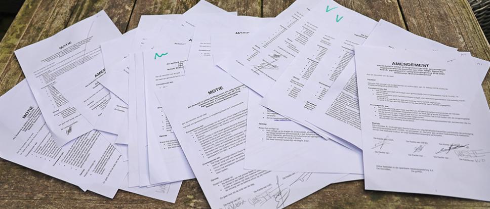 Karrenvracht aan moties en amendementen