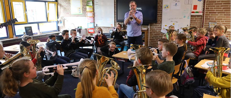 Oldhof gestart met Orkest in de klas