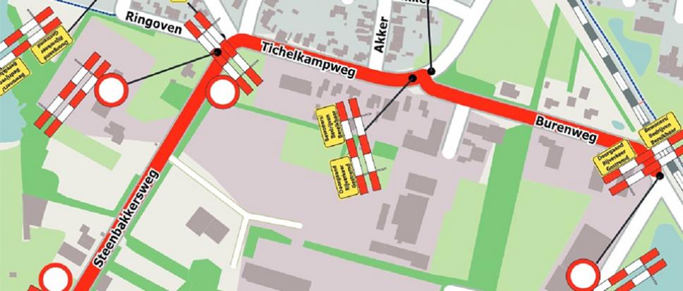 Werkzaamheden Tichelkampweg, Burenweg en Steenbakkersweg