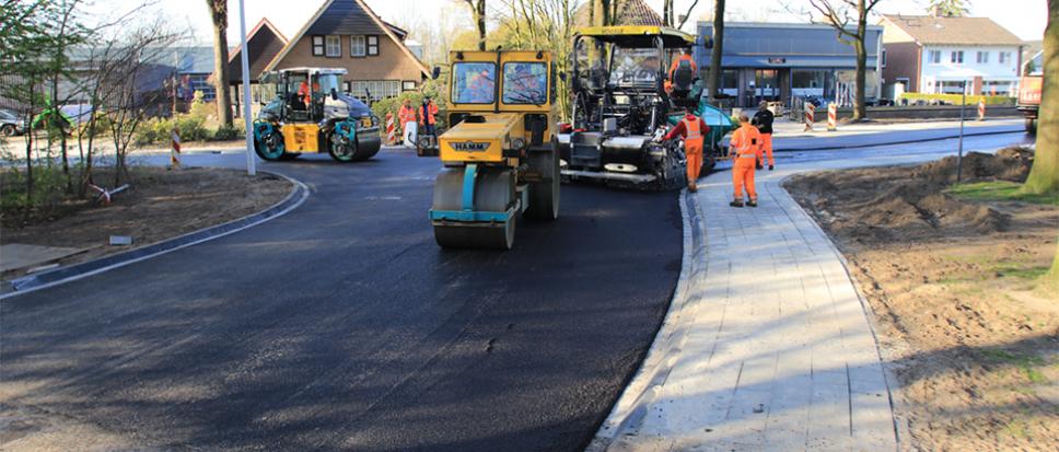 Bijzonder innovatief en duurzaam asfalt in Borne