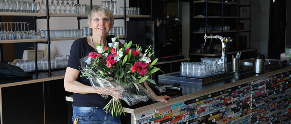 Ciska 'viert' haar gouden werkdag
