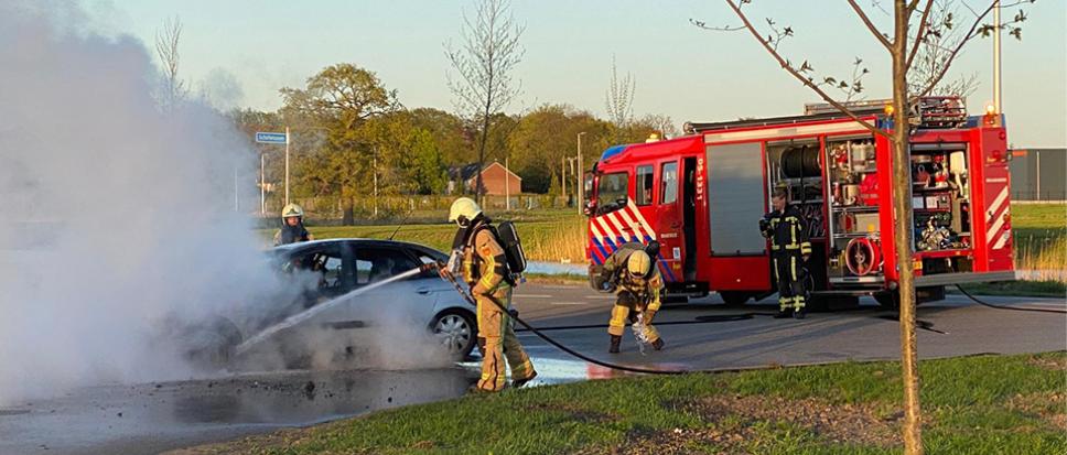 Autobrand aan Scholtensoven