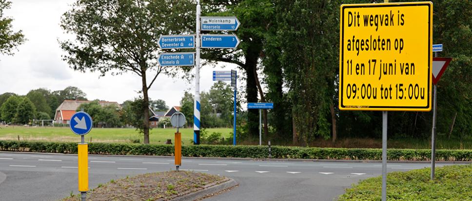 Kruising Oonksweg/Bornerbroeksestraat tijdelijk afgesloten