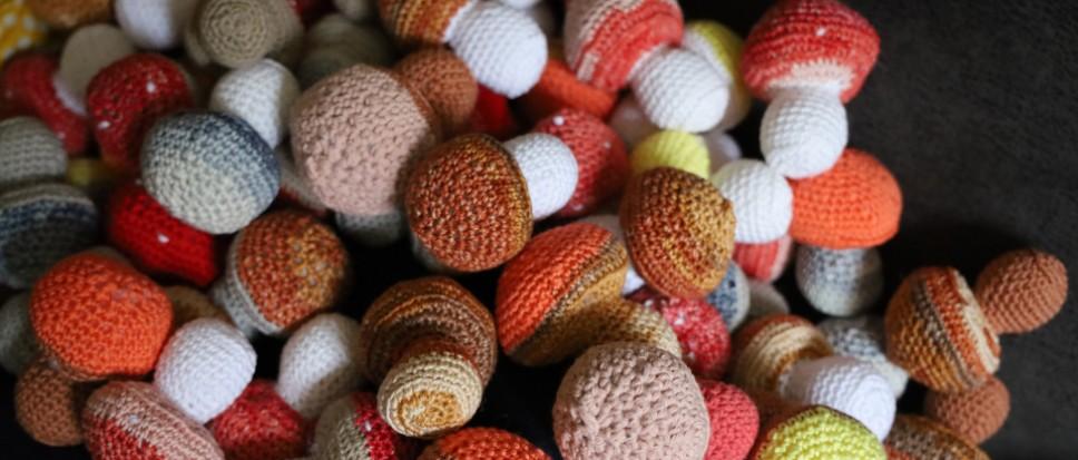 96 paddenstoelen voor Het Dijkhuis