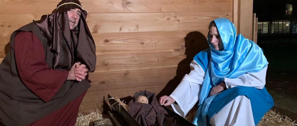 Jozef en Maria zijn onderweg