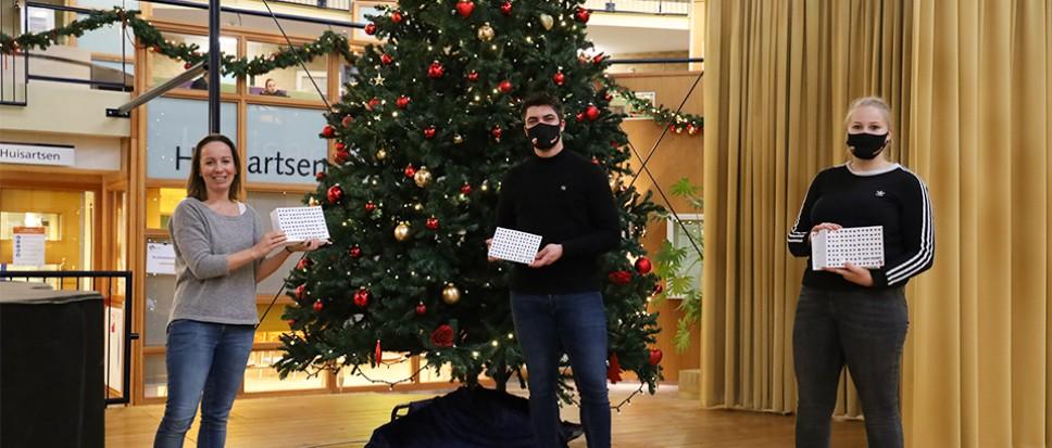 Kerstkaarten voor bewoners Dijkhuis
